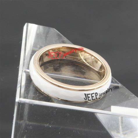 Jeep Ring The Sensible Glittering Golden Ceramic Ring Jeepjewelry