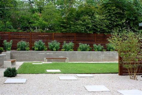 minimalist backyard modern landscape by