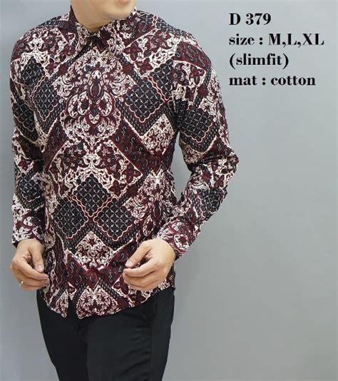 Kemeja Batik Slimfit Kemeja Pria Slimfit Lb233 jual batik slim fit baju pria lengan panjang kemeja pria d379 batik pria grosir tanah abang