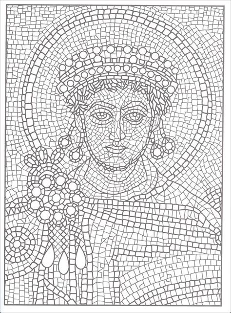 mosaic coloring pages by number printable mosaic coloring pages for adults color by