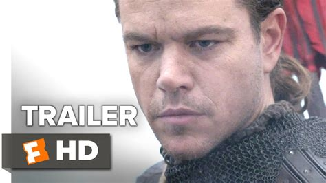film terbaru matt damon 2017 the great wall official trailer 1 2017 matt damon