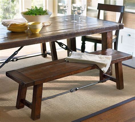 wooden kitchen table with bench counter height dining bench rustic solid wood dining table