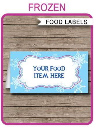 printable party food labels archives page