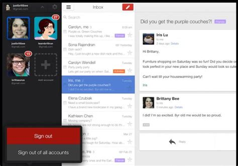 how to logout of gmail on android updated gmail for ios opens links in apps