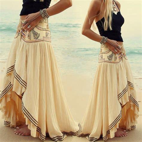 Dress Black Newstyle Fashion Impor fashion boho tribal floral skirt maxi summer