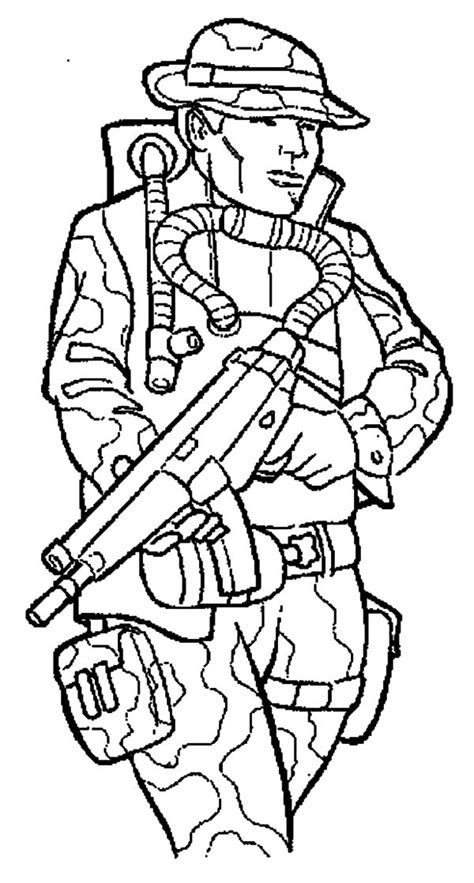 coloring pages soldier coloring home