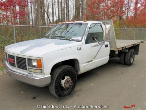 find used 1997 chevy 3500 flatbed 8 aluminum bed 7 4 liter engine in medina ohio united states purchase used gmc 3500 flatbed pickup truck 11 aluminum deck 4 spd auto 5 7l v8 utility work in