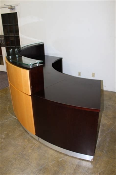 Built In Reception Desk Used Reception Desk Custom Built Used Cubicles