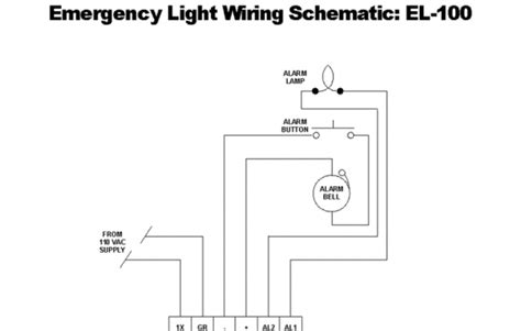 emergency light wiring diagram maintained fuse box and