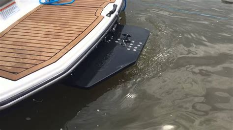 wake shaper jet boat yamaha wake wedge automation system youtube