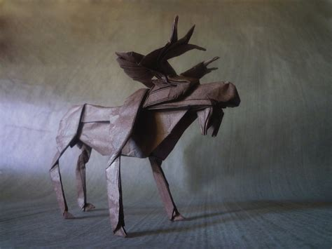 Origami Moose - 23 wonderful origami woodland animals