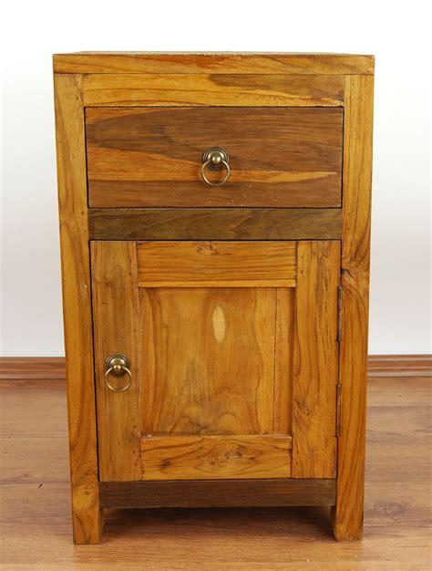 java rustic teak bedside cabinet door drawer bedside teak wood bedside table rustic design small cabinet
