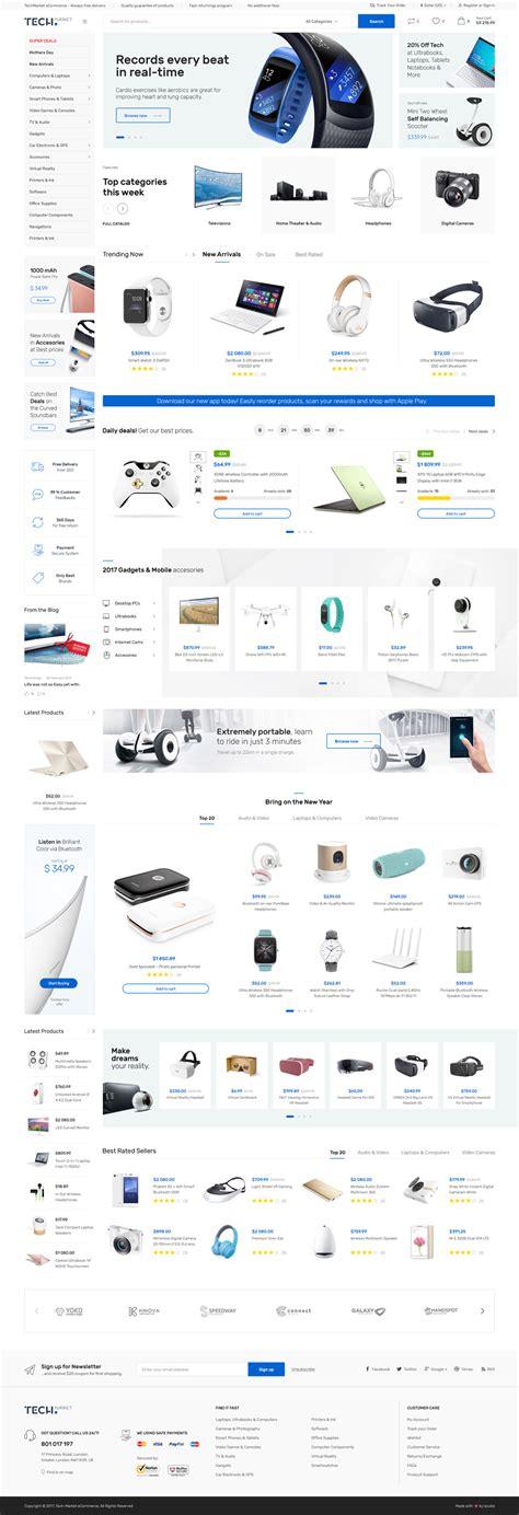 Techmarket Multi Demo Electronics Store Html Template By Madrasthemes Store Html Template