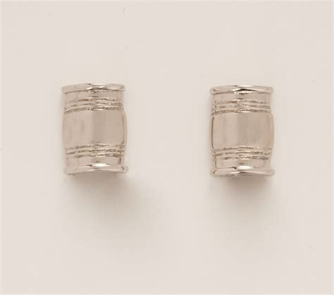 gold and silver ls mini bourbon barrel pierced earrings in gold silver or