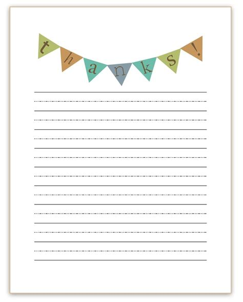 Thank You Letter Paper Template Thank You Note Templates Free Activity Shelter