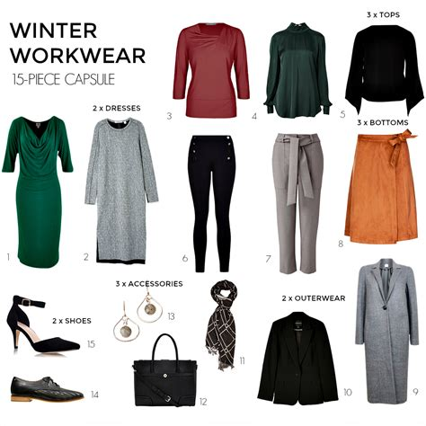 Workwear Wardrobe by How To Create A Winter Workwear 15 Capsule Wardrobe