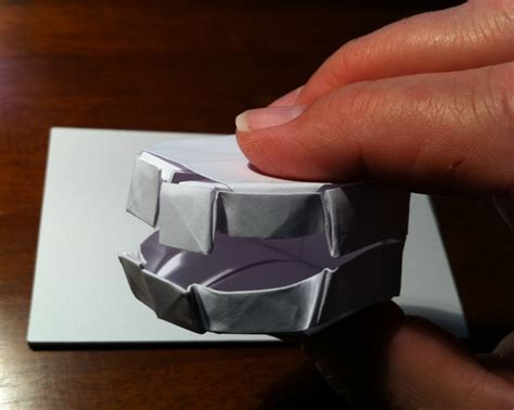 origami teeth 270 false teeth setting the crease