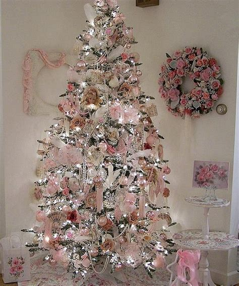 pink christmas tree love this love it pinterest christmas trees shabby chic and