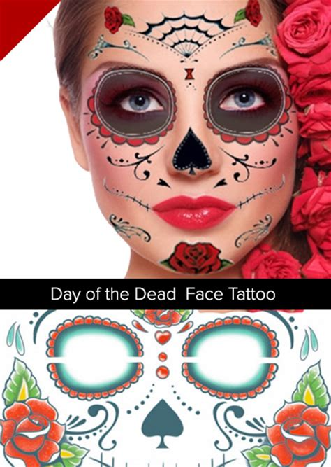 day of the dead face tattoo day of dead tattoos lilzeu de