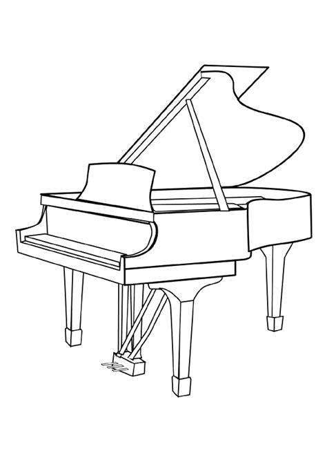 Coloriage Musique Le Grand Piano à queue