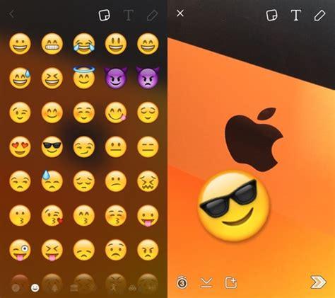 emoji snapchat snapchat gagne un acc 232 s rapide aux emojis et une option
