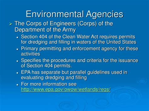 Section 404 Permits by Ppt Module 1 Environmental Policy And Regulation