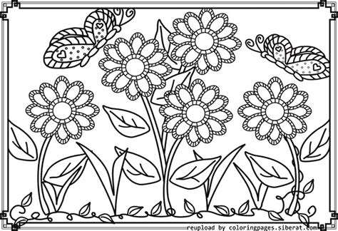 beautiful garden coloring page flower garden coloring sheets color bros