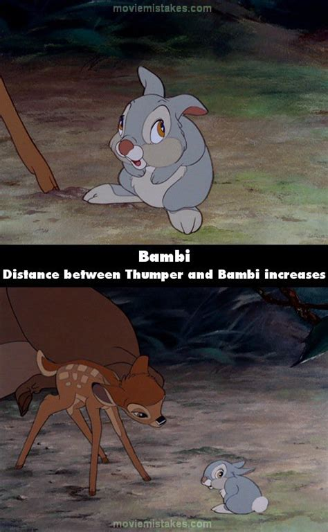 Bambi (1942) movie mistakes, goofs and bloopers