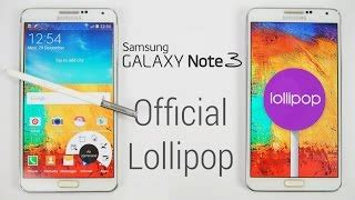 galaxy note 3 official android 5.0 lollipop update