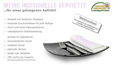 Servietten Selber Drucken Anleitungen by Stoffservietten Bedrucken K 252 Chen Kaufen Billig