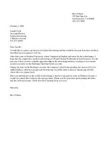 Cover Letter Any Position by Application Letter For Any Position Exles 5