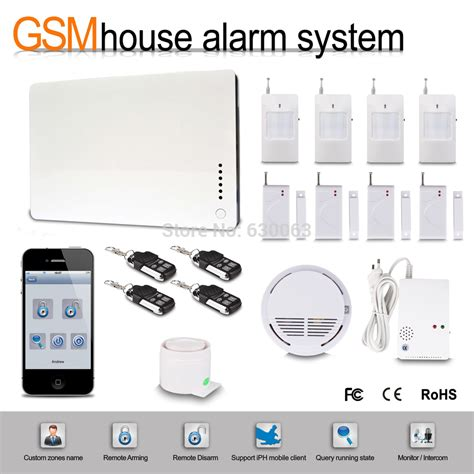 ios apps supported smart wireless wired burglar gsm home