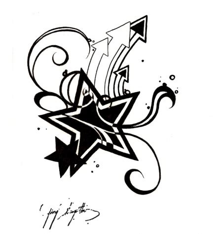 star tattoo sketch clipart best