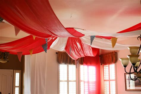 fabric decor circus birthday the sweetest occasion