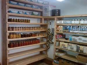 canning pantry and food storage on