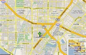 map of costa mesa california drydockfish locations