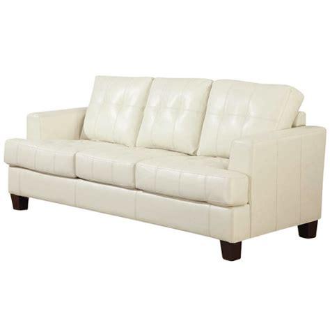 cream tufted sofa samuel contemporary cream leather tufted sofa 501691 coaster