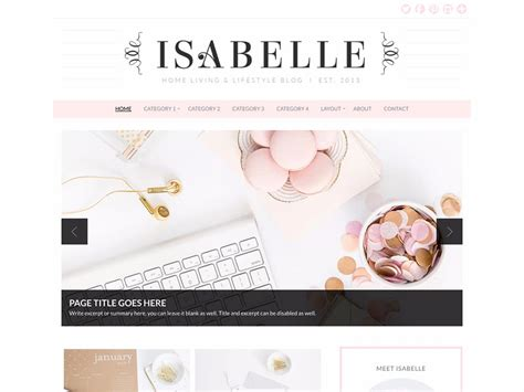 evelyn rose pastel pink responsive blogger template 35 best feminine wordpress themes 2018 athemes