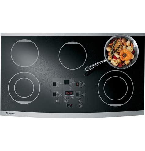 monogram cooktop zeu36rsfss monogram 174 36 quot digital electric cooktop the