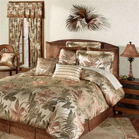 tropical bedding king bali palm tropical comforter bedding by croscill