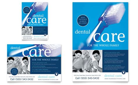 dental newsletter template dentist office flyer ad template design