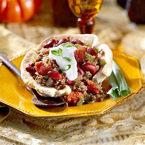 chili in a biscuit bowl recipe paula deen food network 40 quick ground beef recipes southern living