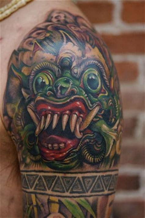 tibetan tattoos designs scary tibetan on shoulder