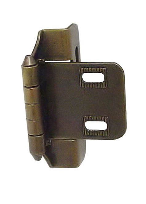 3 8 overlay partial wrap cabinet hinges single 3 8 quot overlay partial wrap self closing hinge