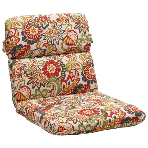 shop rounded multicolored floral outdoor chair cushion