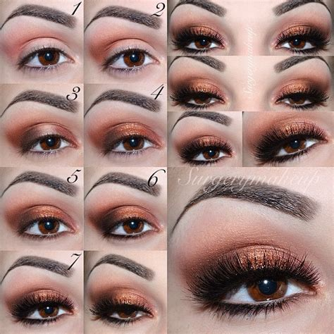 Eyeshadow Gold Tutorial gold makeup looks mugeek vidalondon
