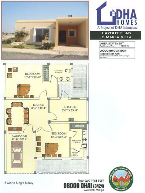 15 Marla House Maps Single Story Dha Homes Islamabad Location Layout Floor Plan And Prices