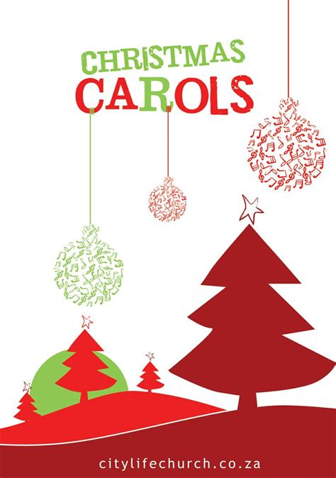 Christmas Carols Flyer Design Graphic Design Pinterest Flyers Christmas Carol And Flyer Caroling Flyer Template