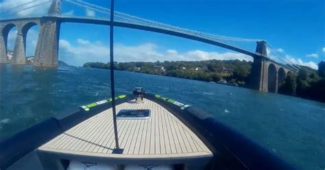 inflatable boats menai we took the fastest rib boat in the uk out on the menai