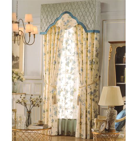 rustic curtains light yellow floral jacquard no